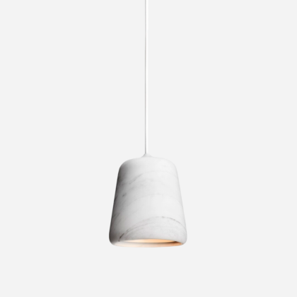 MATERIAL PENDANT WHITE MARBLE | The Room Living