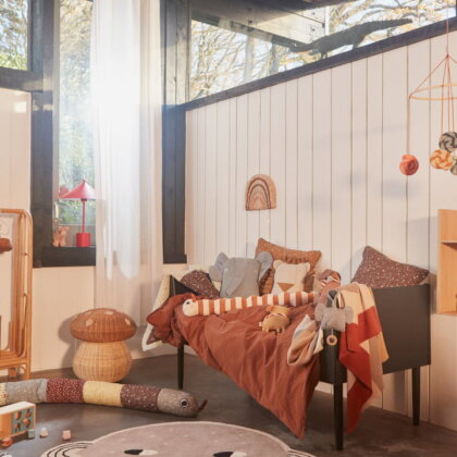 HOPE HEDGEHOG DENIM CUSHION (set of 2) | The Room Living
