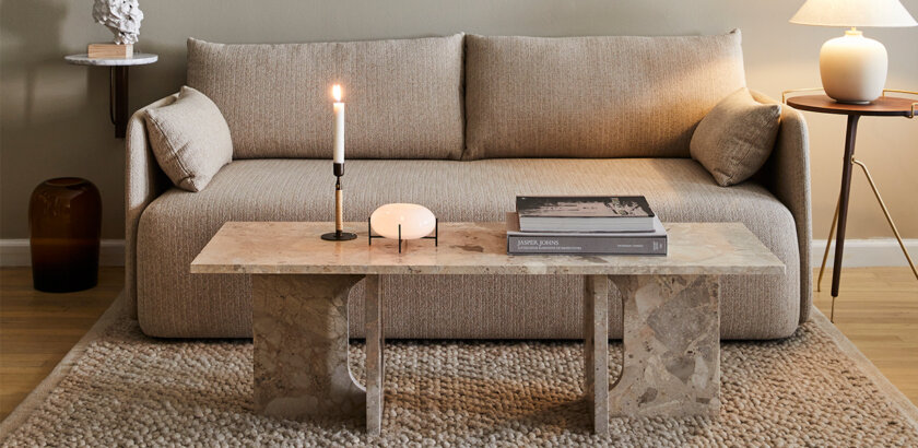 ANDROGYNE LOUNGE TABLE STONE | The Room Living