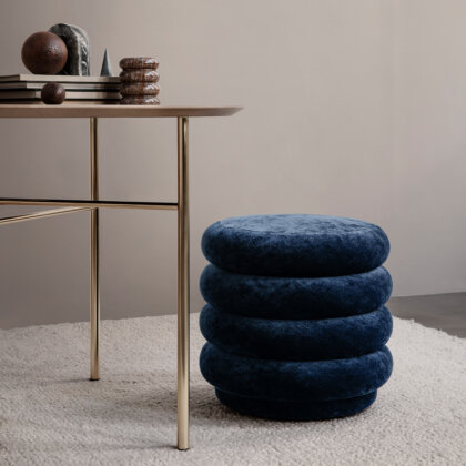 POUF ROUND FADED VELVET SMALL | The Room Living